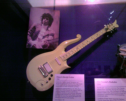 Prince's guitar in the Smithsonian