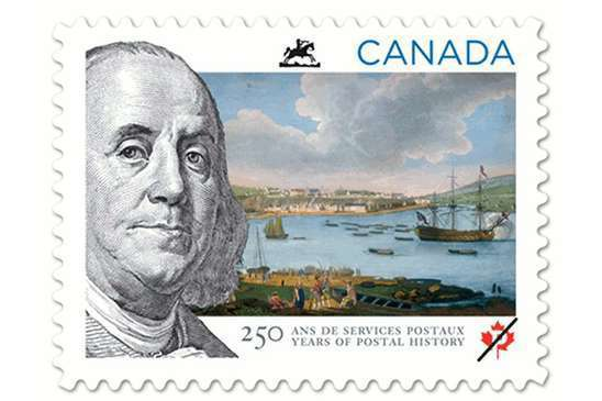Canada Post Commemorative Stamp - Ben Franklin